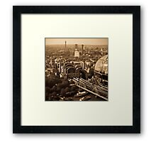 Tilt and shift from the London eye Framed Print