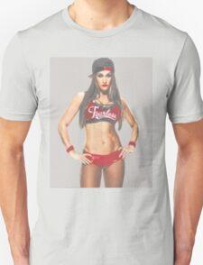 "WWE Nikki Bella ""Pencil Sketch"" Design - Bella Twins T-Shirt"