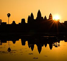 sunrise over angkor wat by RandomThawts