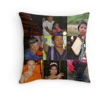 Thai Collage Throw Pillow