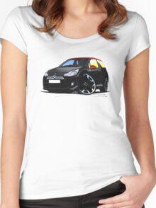 Citroen DS3 Black (Carmen) Women's Fitted Scoop T-Shirt
