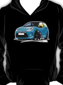 Citroen DS3 Blue (Black) T-Shirt