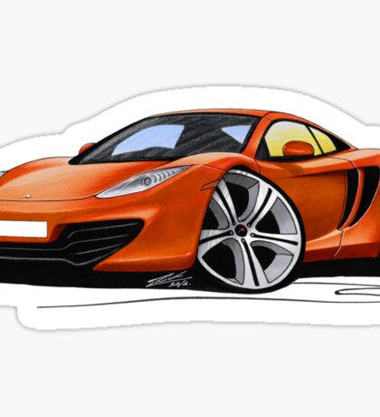 McLaren MP4-12c Volcano Orange Sticker
