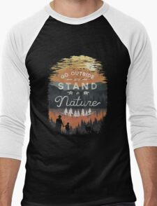 Go Outside and Stand in Nature Men's Baseball ¾ T-Shirt
