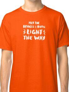 Burned Bridges – Black & White Classic T-Shirt