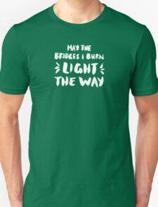 Burned Bridges – Black & White Unisex T-Shirt