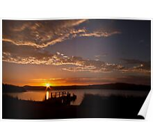 Sunrise at Poddy Shot Poster