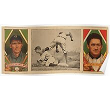 Benjamin K Edwards Collection Geo T Stovall James Austin St Louis Browns baseball card portrait Poster