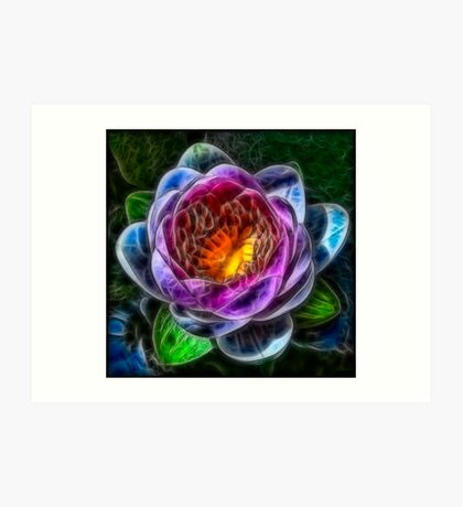 Fractalius Water Lilly Art Print