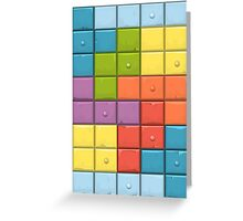 Tetris Boxes Greeting Card