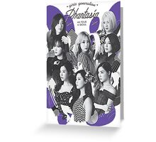 Girls' Generation (SNSD) 'PHANTASIA' Concert - White Greeting Card
