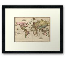 World Map (1812) Framed Print