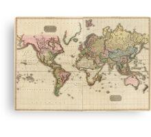 World Map (1812) Metal Print