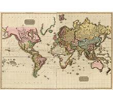 World Map (1812) Photographic Print