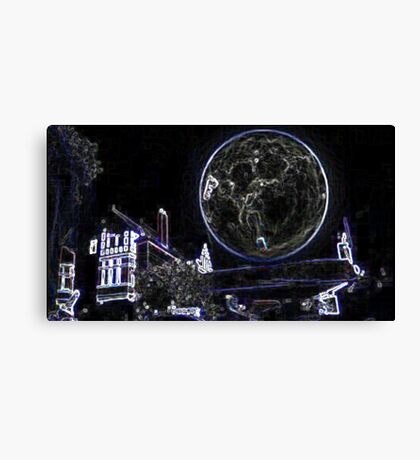 Full Moon On A Windy Night  Canvas Print
