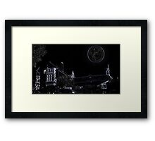 Full Moon On A Windy Night  Framed Print