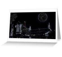 Full Moon On A Windy Night  Greeting Card