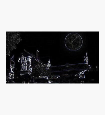 Full Moon On A Windy Night  Photographic Print