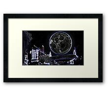 Full Moon On A Windy Night 2 Framed Print