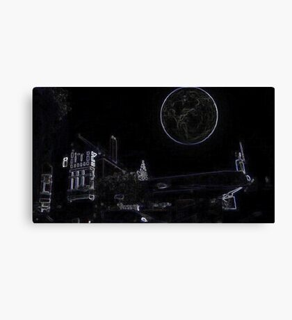 Full Moon On A Windy Night  3 Canvas Print