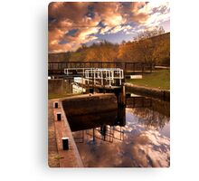 Holmes Lock Reflections Canvas Print
