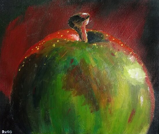 Red Green Apple by Simon Rudd