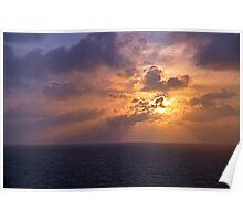 Sunrise at Sea Poster