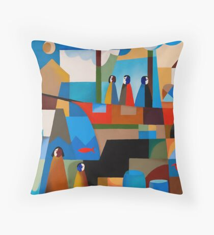 THE IMMIGRANTS, HOBART Throw Pillow