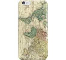Vintage Map of The World (1823) iPhone Case/Skin