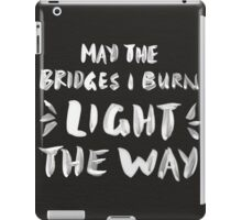 Burned Bridges – Black & White iPad Case/Skin