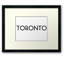 Toronto Framed Print