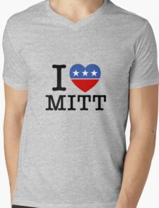 I Heart Mitt Mens V-Neck T-Shirt