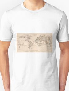 Vintage Map of The World (1827) 2 Unisex T-Shirt