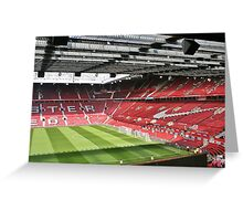 Old Trafford, The theatre of dreams. Greeting Card