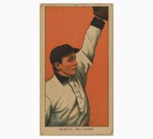 Benjamin K Edwards Collection Jimmy Slagle Baltimore Team baseball card portrait One Piece - Long Sleeve