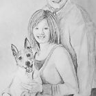 Christie &amp; Daniel portrait drawing by Linda Costello Hinchey