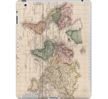 Vintage Map of The World (1833) iPad Case/Skin