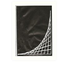 Black Parabolic Art Print