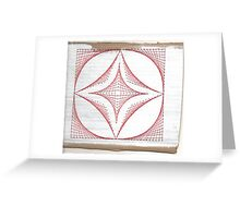 Parabolic stiched Greeting Card