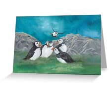 """Puffin Party"" Greeting Card"