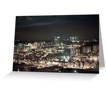Sheffield by Night Greeting Card