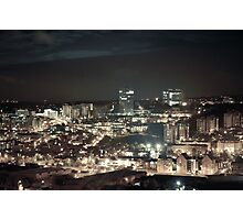 Sheffield by Night Photographic Print