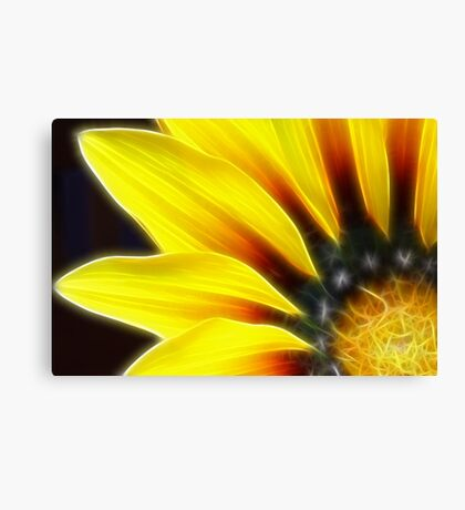 Yellow Tangles Canvas Print