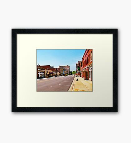 Small Town Framed Print