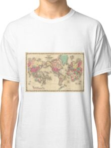 Vintage Map of The World (1860) Classic T-Shirt