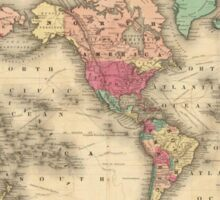 Vintage Map of The World (1860) Sticker