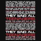 Teenagers Lyrical (My Chemical Romance) by Dsavage94