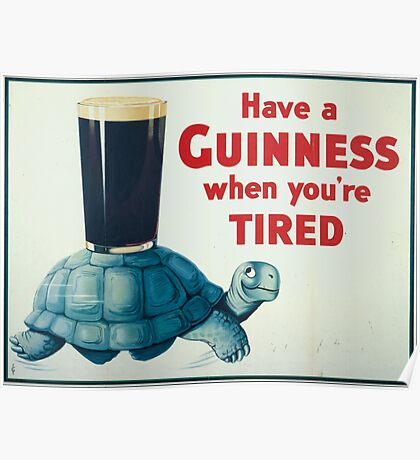 vintage Guinness beer ad Poster