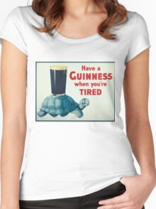 vintage Guinness beer ad Women's Fitted Scoop T-Shirt