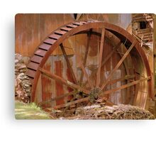 Old Mill Water Wheel Canvas Print